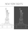 new york sights statue of liberty vector image