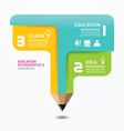 Pencil Infographic Design Minimal style template vector image