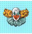 vintage clown pop art comic style poster vector image