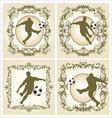 Vintage frame - soccer vector image
