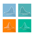 Normal Positive and Negative Distribution Curve vector image