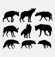 Hyena mammal wild animal silhouette 1 vector image vector image