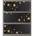Banners with shiny stars vector image