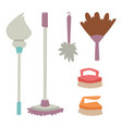 cleanser brush chemical housework product care vector image
