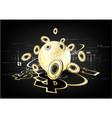 Digital currency worldwide financing golden vector image