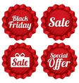 Colorful black friday sale special offer labels vector image vector image