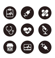 MedicalIconSetCollectionBlack vector image