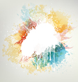 Background With Colored Blots vector image vector image