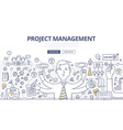 Project Management Doodle Concept vector image