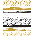 seamless pattern with gold foil circles Background vector image