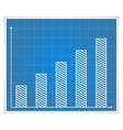 Blueprint bar graph vector image vector image