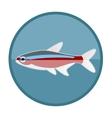 Neon fish icon vector image