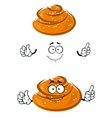 Cartoon sweet bun character with sesame seeds vector image