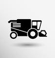 Combine harvester icon button logo symbol concept vector image