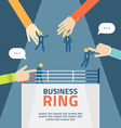 Concept business people fight on ring agreement vector image