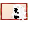 fashionable silhouette of a girl vector image