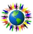 human reach on earth vector image