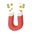 Magnet with money items vector image
