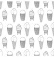 monochrome icecream vector image