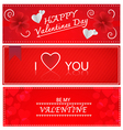 Red Valentines Greeting Cards vector image