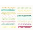 set of seamless brushes isolated vector image