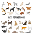 Breed Set Of Dogs And Cats vector image