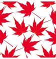 Red maple leaves Seamless pattern Japanese vector image