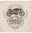 Custom motorcycle Vintage Design vector image vector image