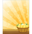 A basket full of lemons vector image