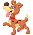 Cartoon happy dog isolated on white background vector image