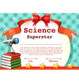 Certificate for science subject vector image
