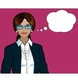 Indonesian Businesswoman pop art comic vector image vector image