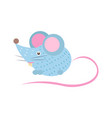 closeup blue mouse with tail vector image