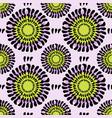 flowers seamless pattern fashion spring vector image
