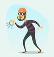 Funny cartoon burglar vector image