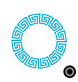 greek round frame pattern vector image