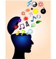 Human mind vector image