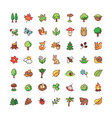 icons forest vector image