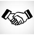 Ink Draw Handshake vector image