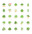 nature and ecology flat colored icons 6 vector image