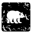 Bear icon grunge style vector image