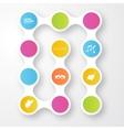color circles infographic Color molecule vector image vector image