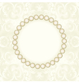 pearl frame vector image vector image