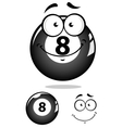 Gray eight pool ball character vector image vector image