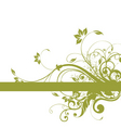 floral background frame design vector image