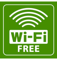 free wi fi icon vector image