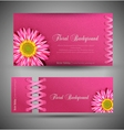 flowers template design element vector image