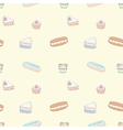 Seamless pattern of dessert vector image