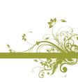 Floral background frame design vector image