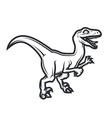 Prehistorical dino Logo concept Raptor insignia vector image